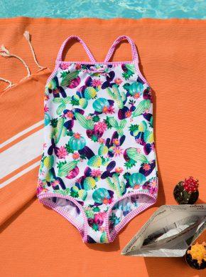 Badeanzug für Mädchen mit UV Schutz recycling