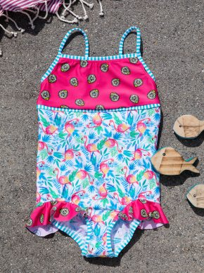 nachhaltiger Mädchen Badeanzug, recycling