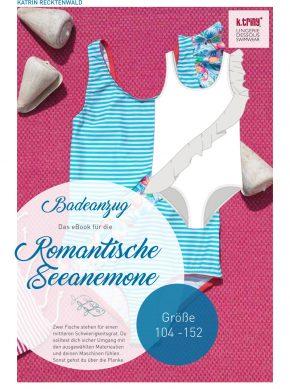 ebook Kinderbadeanzug, Schnittmuster samt Anleitung für diesen süßen Badeanzug mit Volant von k.triny zum selber nähen