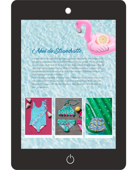 Cover-Rückseite, Kinder Bademode nähen. Das eBook von k.triny